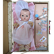 "Vintage ""RARE"" Effanbee Dy-Dee Doll Trunk with  Accessories of your 15"" Doll- the doll isn't Included"
