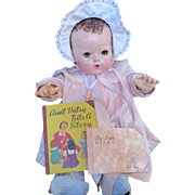 """Vintage Effanbee Dy-Dee Doll """"1938 Aunt Patsy Tells a Story"""" and her Diary"""