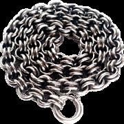 Fine Antique Sterling Silver Book Chain/Collar Belcher Links