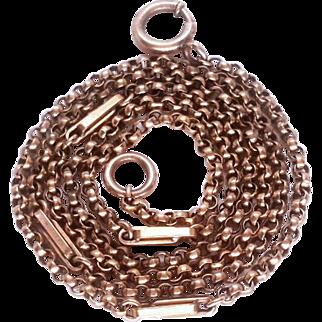 Long & Heavy Victorian 9K Gold Filled Fancy Belcher Chain