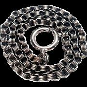 Victorian Silver Belcher Link Book Chain / Collar