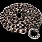 Victorian Silver Book Chain / Locket Chain Belcher Links