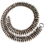 Victorian Double Rolo Ball and Star Sterling Silver Book Chain