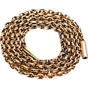 Victorian 9K Rose Gold Wide Link Belcher Chain