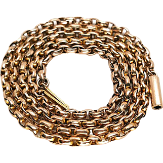 Victorian 9K Rose Gold Wide Link Belcher Chain