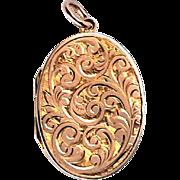 Sweet Victorian 9K Rose Gold Aesthetic Locket