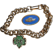 1960's Girl Scout Bracelet & Two Brownie Pins