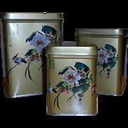 Vintage Nesting  Oriental Tins