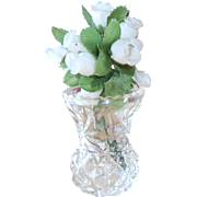 Pressed Glass Bud Vase