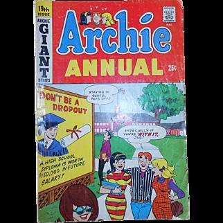 Archie Annual Comic Book