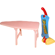 Renwal Pink Ironing Board & Upright Vacuum Cleaner