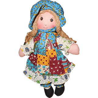 "Knickerbocker's Original 9"" Holly Hobbie Stuffed Doll by American Greetings"