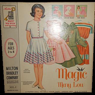 "Milton Bradley's 1962 Magnetic ""Magic Mary Lou"" Paper Dolls, Complete & Unused."