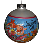 "1981 ""Snowtime Frolic"" Raggedy Ann & Andy Ornament"