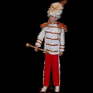 1961 Flocked Hair Ken Doll in Drum Majorette Outfit #0875