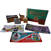Advertisement Assortment, Brillo, Johnson & Johnson Cotton,Bendix Automatic Washer Gift Soap, Dr. Blumer's Baby Soap & More