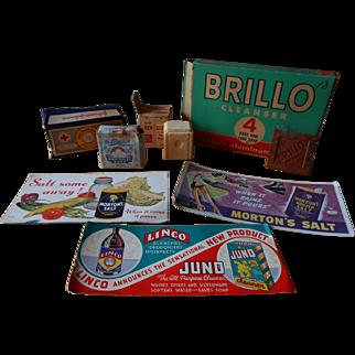 Advertisement Assortment, Brillo, Johnson & Johnson Cotton,Bendix Automatic Washer Gift Soap, Dr. Blumer's Baby Soap & More