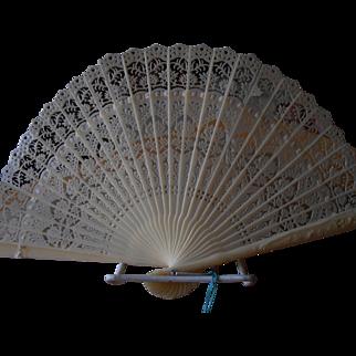 Ivory Filigree Celluloid Fan