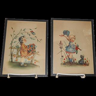 Marion Bradford Burgess Children's Prints