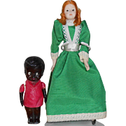 Two Small Dolls For Doll House