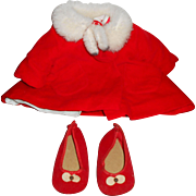 Chatty Cathy 1960 Christmas Coat with Dress & Shoes