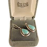 Vintage Turquoise and Sterling Silver Earrings