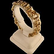 Vintage Classic Double Link 14 K Gold 63.4 Gram Bracelet