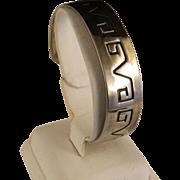 Vintage 1970's Hopi Style Sterling Silver Bracelet