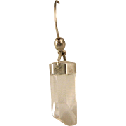 Vintage Sterling Silver Natural Crystal Dangle Single Earring