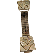 Vintage Southwest Mosaic Overlay watch Tip Band