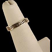 Vintage Sterling Silver Greek Toe Ring