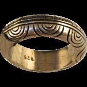 Vintage Engraved Sterling Band