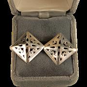 Sterling Silver Diamond Dome Shape Earrings