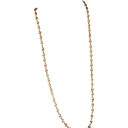 Vintage Sterling Silver Twist Chain Necklace