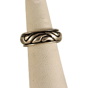 Vintage Sterling Silver Heavy and Bold Spinner Ring
