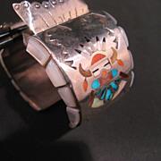 Zuni Native American Watch Bracelet circa 1960