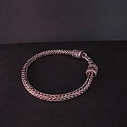 Vintage Bali Wheat link Sterling Silver Chain Bracelet 7 inch.