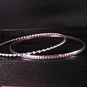 Bangle's Sterling Silver Pair