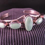 Sterling Silver Variscite Southwest Style Vintage Bracelet