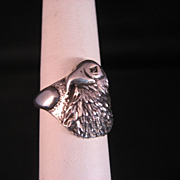 Eagle Sterling Silver Ring Size 9.5