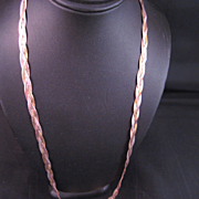 Sterling Silver Tri Color Vermeil wrapped Chain
