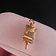Vintage Quill and Scroll Gold fill Editors Pin