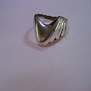 Sterling Silver Modern Free form Band circa 80's