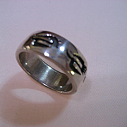 Sterling Silver Hopi Style Band