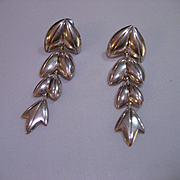 Vintage Sterling Silver Dangle Earrings