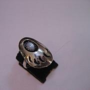 Vintage Navajo Shadow Box Bear Claw ring