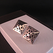 Vintage Sterling Handcrafted Sterling Silver Earrings