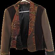 Vintage Handmade 100% Wool Coloratura Crop Jacket