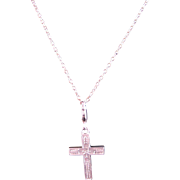 Sterling Silver Cross and 18 inch Sterling Silver Link Chain