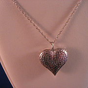 Sterling Silver Puff Heart and Sterling Chain